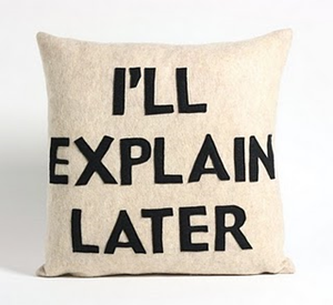I'll Explain Later Cushion