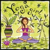Yogagirlwallart